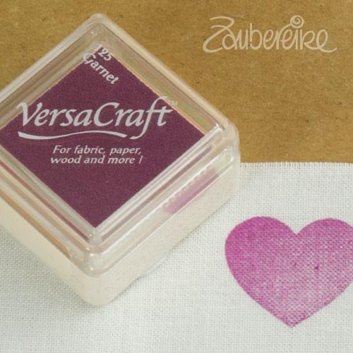 Stoff-Stempelfarbe 125 Garnet von VersaCraft mini