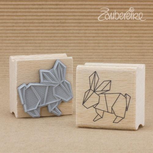 Motivstempel Origami-Häschen
