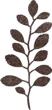 Stempelmotiv Blätterzweig