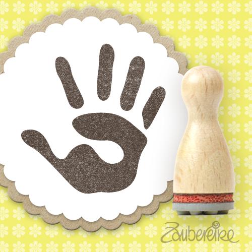 Ministempel Handabdruck (rechte Hand)