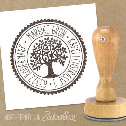 Adresstempel Baum