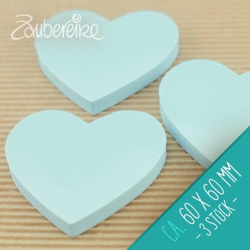 Gummiplatte zum Stempelschnitzen , Herz, ca. 60 mm (3 Stück)