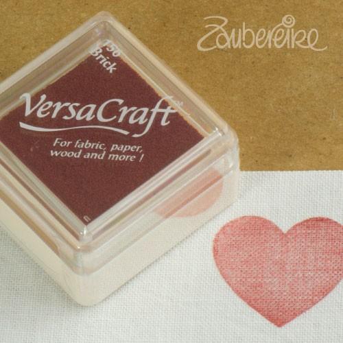 Stoff-Stempelfarbe 156 Brick von VersaCraft mini