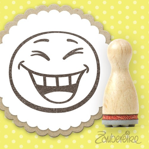 Ministempel lachender Smiley