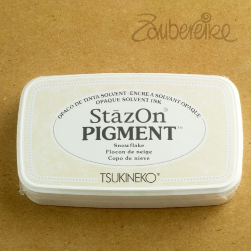 StazOn Pigment 001 Snowflake, solvent opaque ink