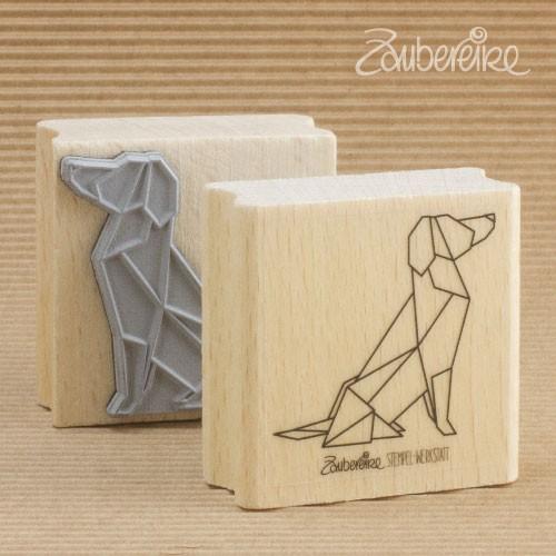 Motivstempel Origami-Hund