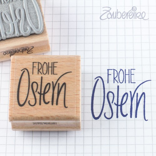 Textstempel Frohe Ostern