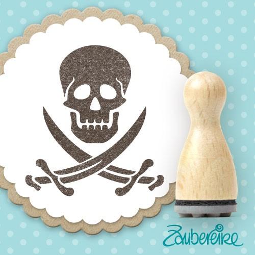 Ministempel Piratenschädel