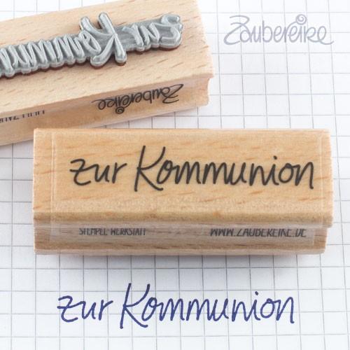 Textstempel zur Kommunion in Handschrift