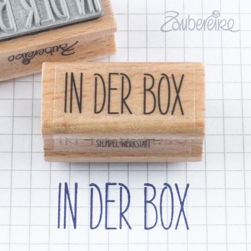 Textstempel In der Box in Satzschrift