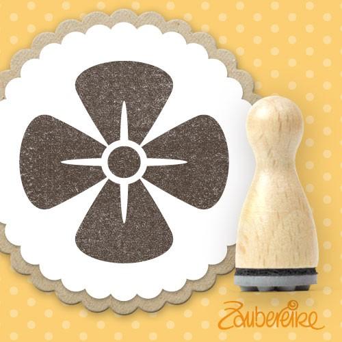 Ministempel 4-blättrige Blüte