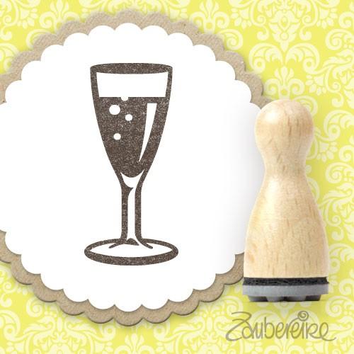 Ministempel Sektglas