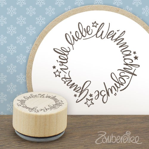 Midistempel Weihnachtsgrüße im Kreis