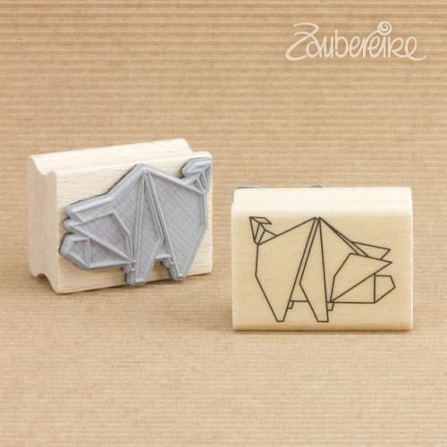 Motivstempel Origami-Glücksschweinchen