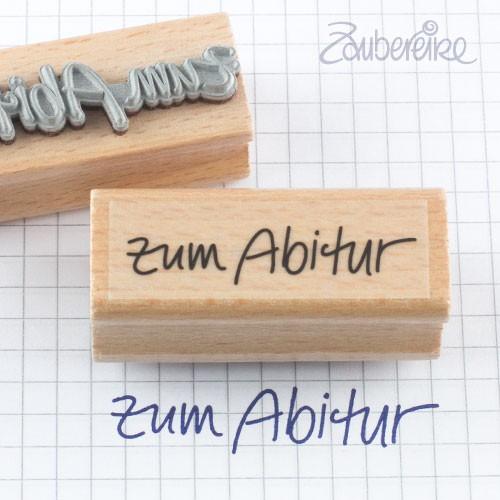 Textstempel zum Abitur in Handschrift
