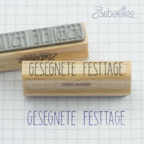 Textstempel Gesegnete Festtage