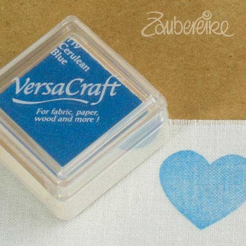Stoff-Stempelfarbe 119 Cerulean Blue von VersaCraft mini