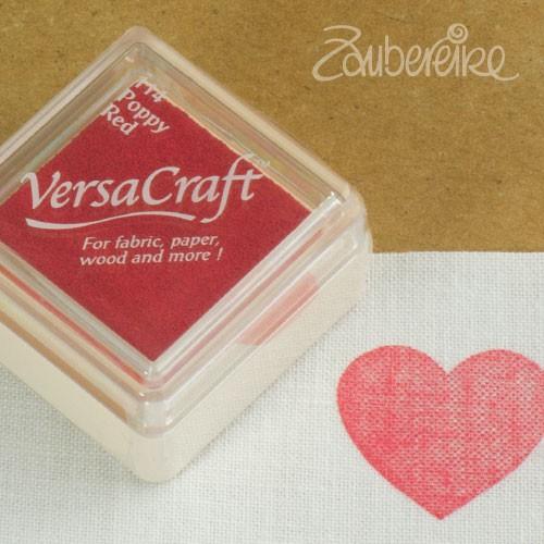 Stoff-Stempelfarbe 114 Poppy Red von VersaCraft mini