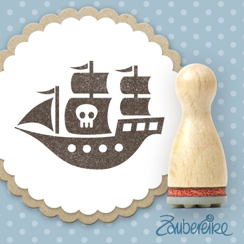 Ministempel Piratenschiff