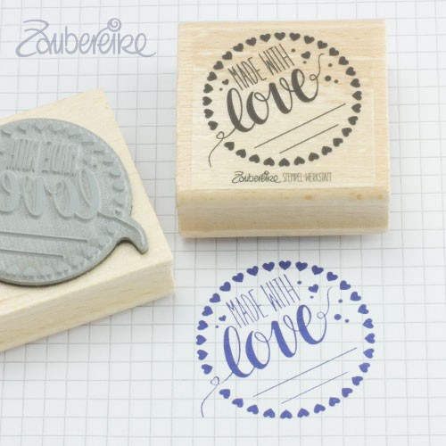 Textstempel Made with love