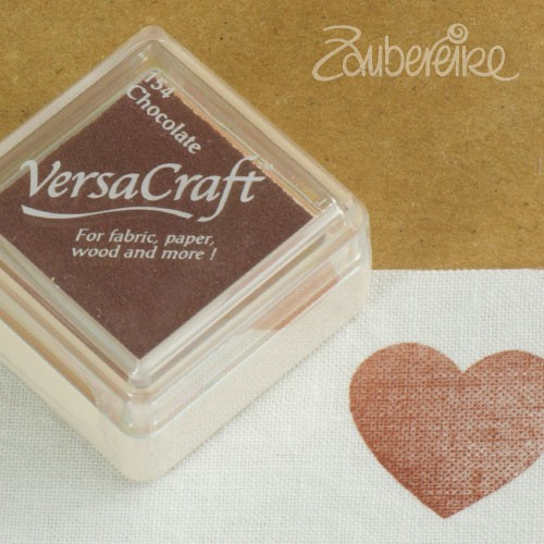 Stoff-Stempelfarbe 154 Chocolate von VersaCraft mini