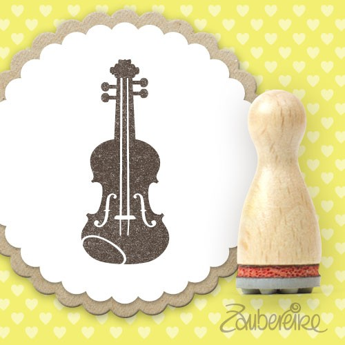 Ministempel Geige