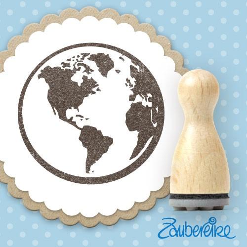 Ministempel Weltkugel