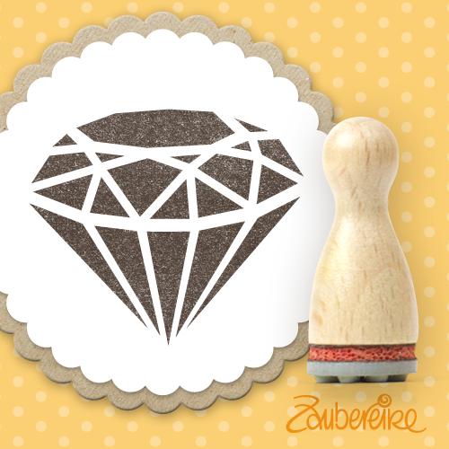 Ministempel Diamant (flächig)