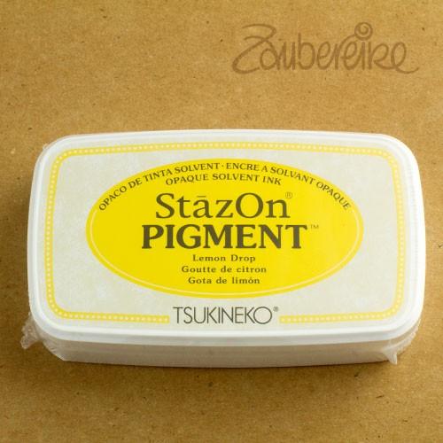 StazOn Pigment 091 Lemon Drop, solvent opaque ink