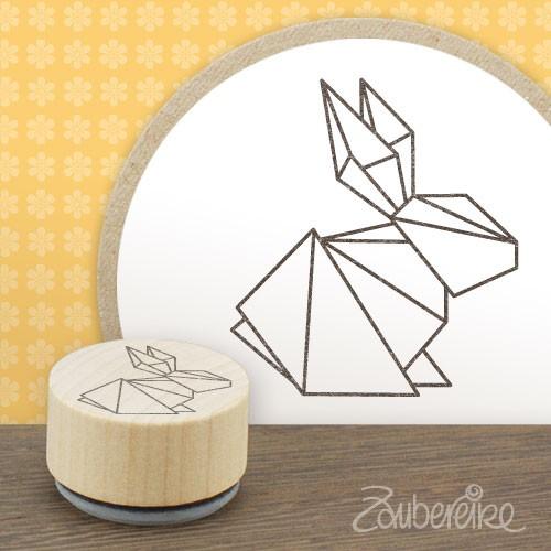 Midistempel Origamihase