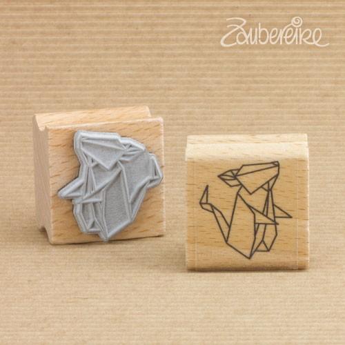 Motivstempel Origami-Maus