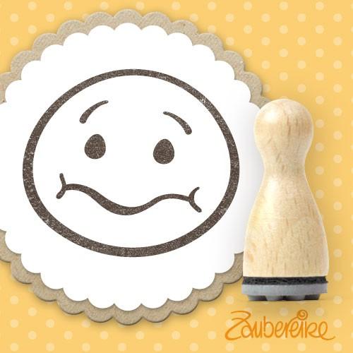Ministempel grummeliger Smiley