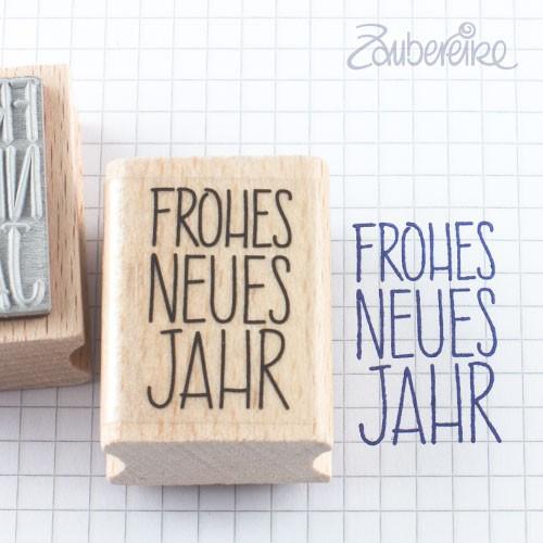 Textstempel Frohes Neues Jahr in Satzschrift