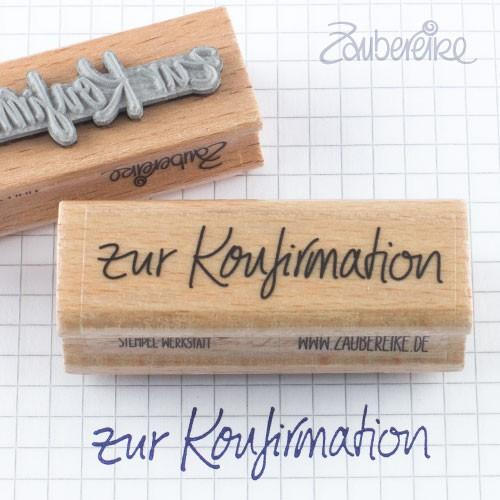 Textstempel zur Konfirmation in Handschrift