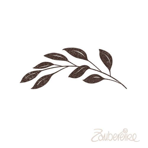 Stempelmotiv Zweig nach links gebogen