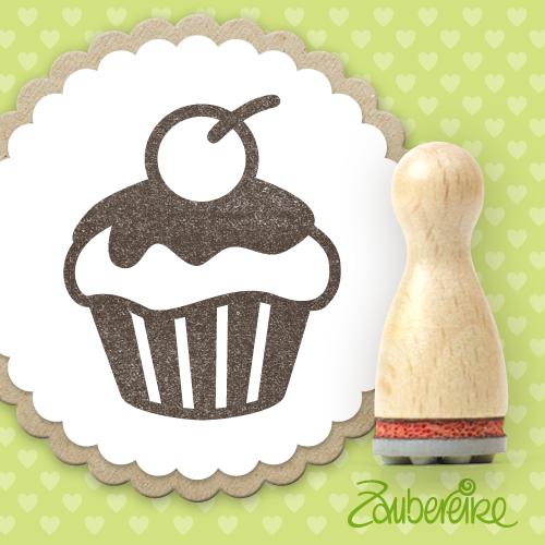 Ministempel Muffin mit Kirsche