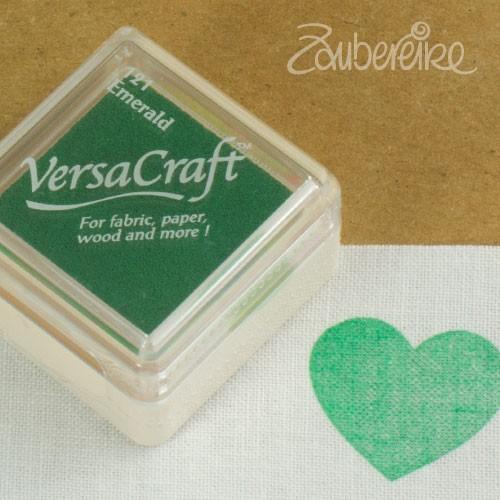 Stoff-Stempelfarbe 121 Emerald von VersaCraft mini
