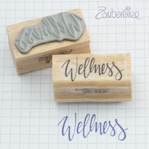Texttemnpel Wellness im Handlettering-Stil