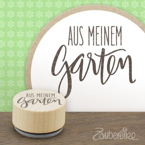 """Midistempel """"Aus meinem Garten"""""""
