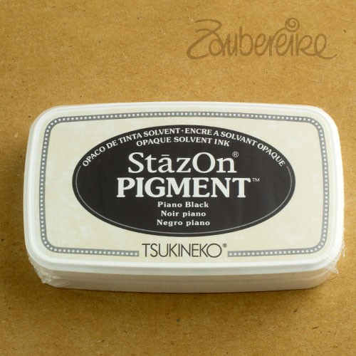 StazOn Pigment 031 Pino Black, solvent opaque ink