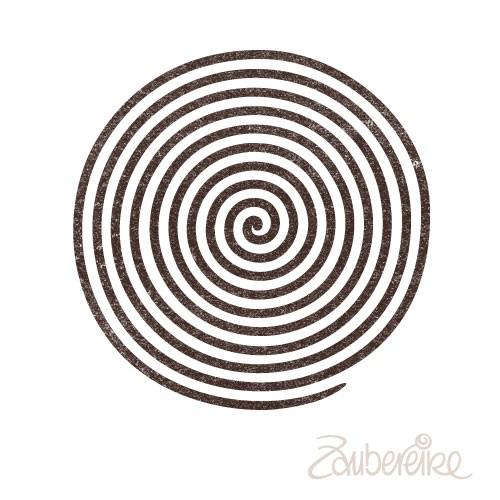 Stempelmotiv Große Spirale