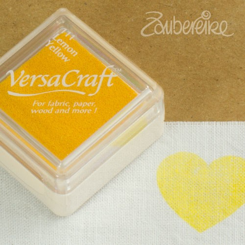 Stoff-Stempelfarbe 111 Lemon Yellow von VersaCraft mini