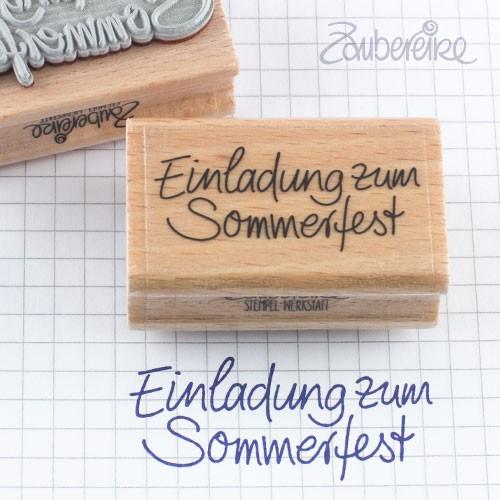 Textstempel Einladung zum Sommerfest in Handschrift