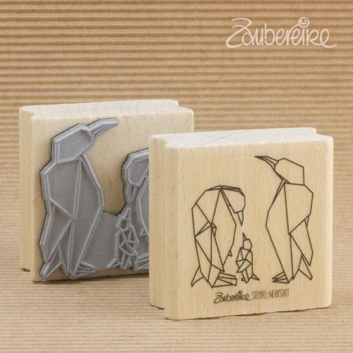 Motivstempel Origami-Pinguine