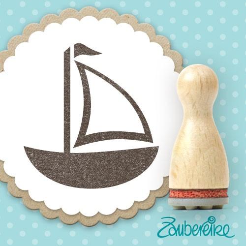 Ministempel schlichtes Segelboot