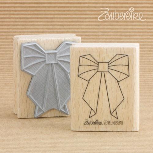 Motivstempel Origami-Schleife