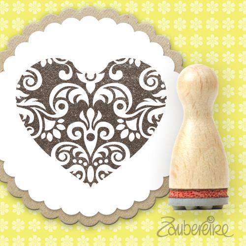 Ministempel Ornament-Herz