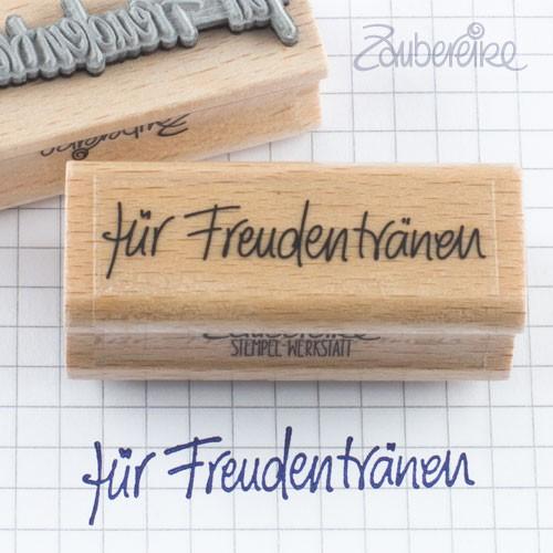 Textstempel für Freudentränen in Handschrift
