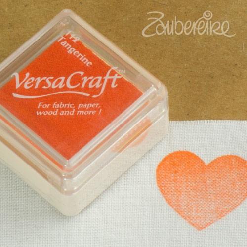 Stoff-Stempelfarbe 112 Tangerine von VersaCraft mini