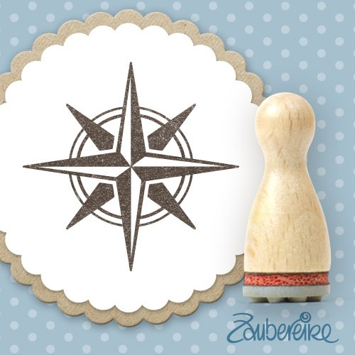 Ministempel Windrose